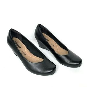 Clarks Collection Womens Size 8 Black Flores Tulip